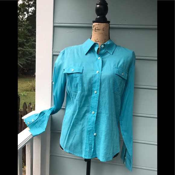 Talbots Tops - Talbots aqua shirt